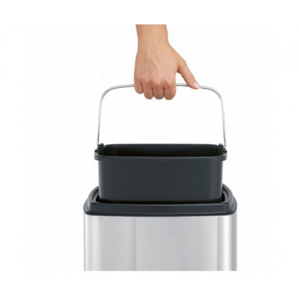 Мусорный бак Touch Bin прямоугольный 25 л полированная сталь