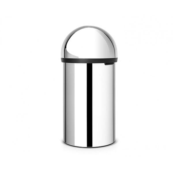 Мусорный бак Push Bin 60 л полированная сталь