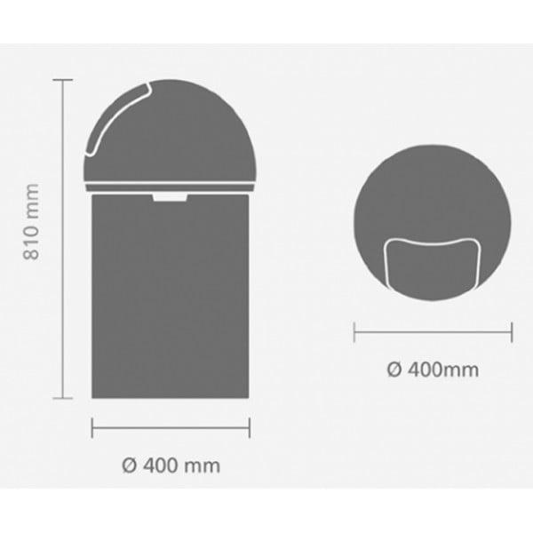 Мусорный бак Push Bin 60 л минерально-мятный