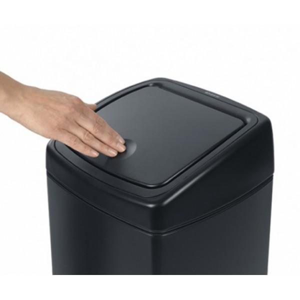 Мусорный бак Touch Bin прямоугольный 25 л матовый черный
