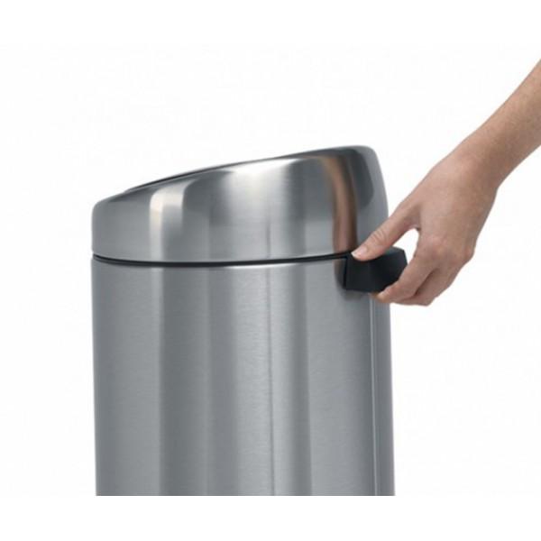 Мусорный бак Touch Bin 20 л с метал. ведром полированная сталь