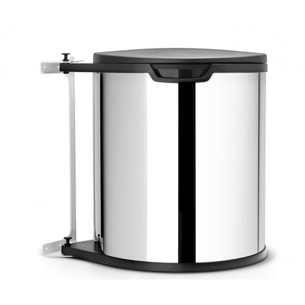 Встраиваемый мусорный бак 15 л стальной полированный