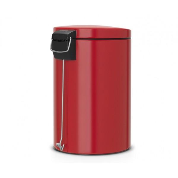 Мусорный бак с педалью 20 л бесшумный пламенно–красный