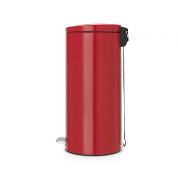 Мусорный бак с педалью 30 л бесшумный пламенно-красный