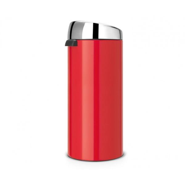 Мусорный бак Touch Bin 30 л пламенно–красный/крышка полированная