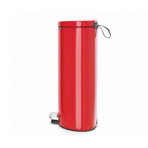 Мусорный бак с педалью FlatBack+ 30 л пламенно-красный