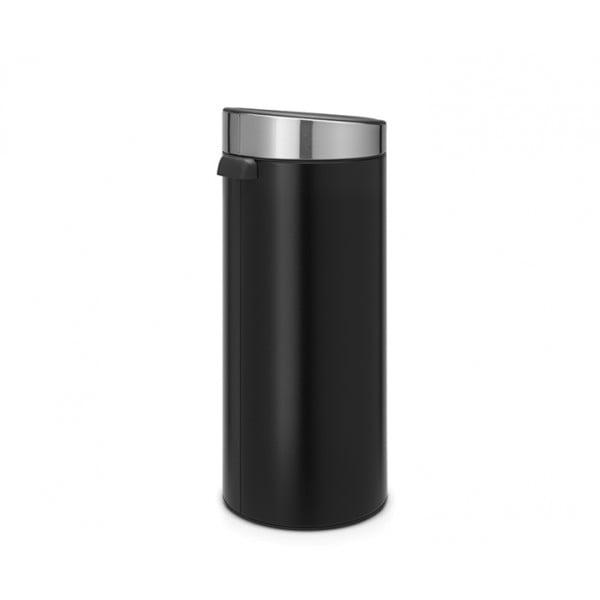 Мусорный бак Touch Bin 30 л черный матовый крышка стальная матовая
