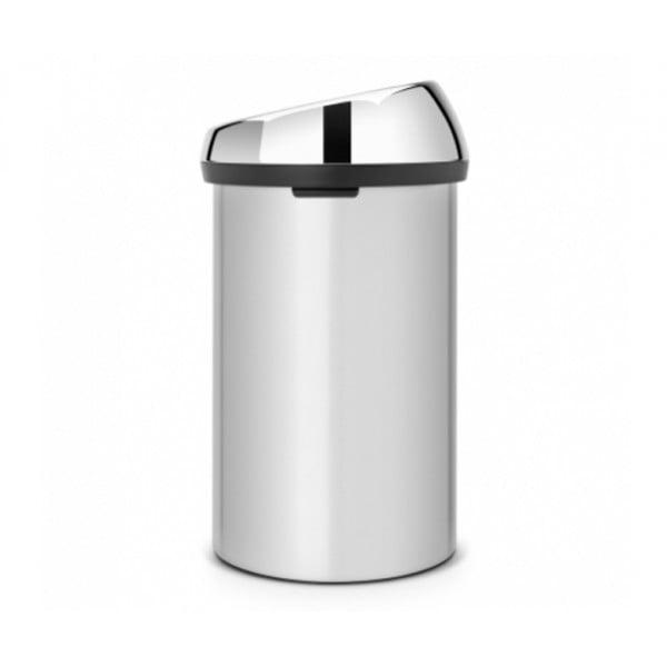 Мусорный бак Touch Bin 60 л серый металлик
