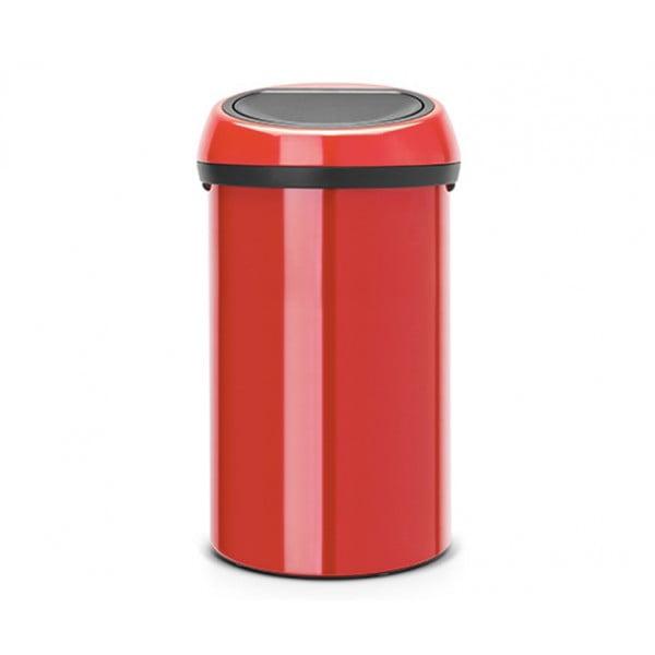 Мусорный бак Touch Bin 60 л пламенно-красный