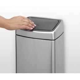 Мусорный бак Touch Bin прямоугольный 10 л стальной матовый FFP