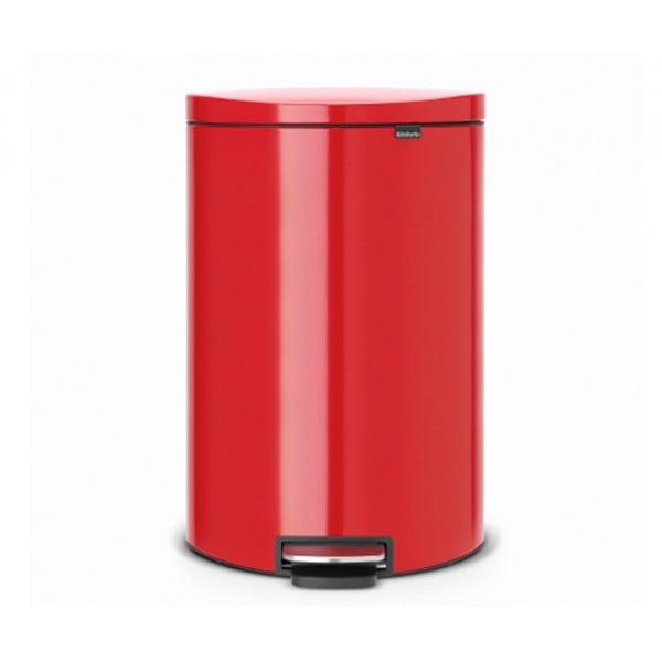 Мусорный бак с педалью FlatBack+ 40 л пламенно-красный