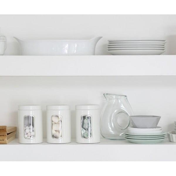 Набор контейнеров для сыпучих продуктов с окном 1,4 л 3 шт. белый
