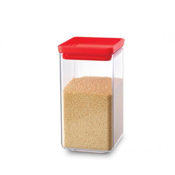 Прямоугольный контейнер 1,6 л красный