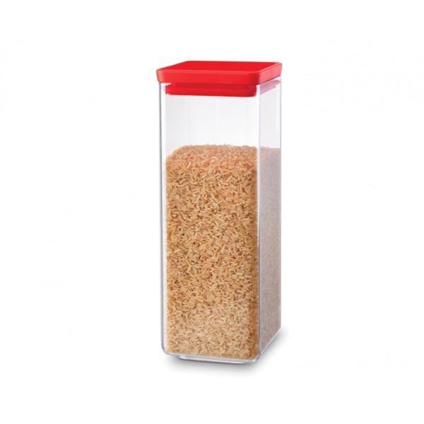 Прямоугольный контейнер 2,5 л красный
