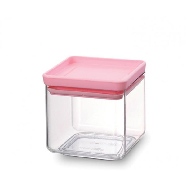 Прямоугольный контейнер 0,7 л розовый