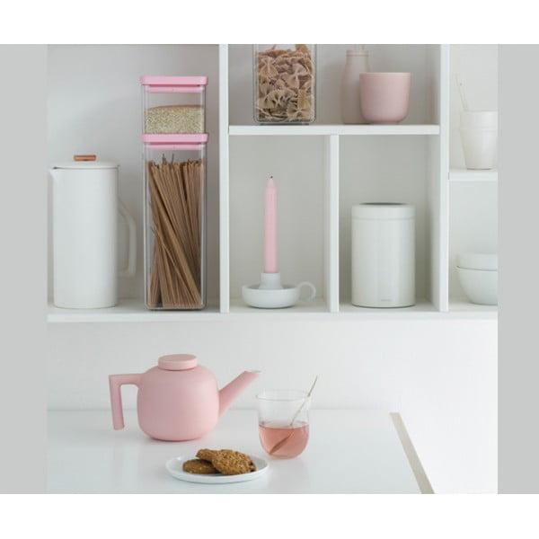 Прямоугольный контейнер 2,5 л розовый