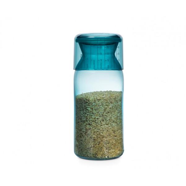 Пластиковая банка с мерным стаканом 1,3 л мятный