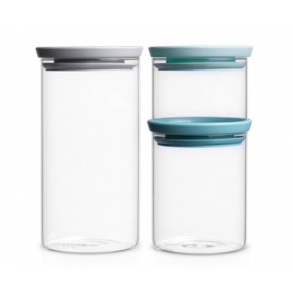 Набор модульных стеклянных банок 3 шт