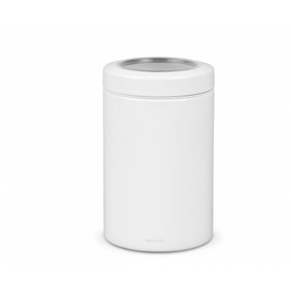 Контейнер для сыпучих продуктов с окном на крышке 1,4 л белый