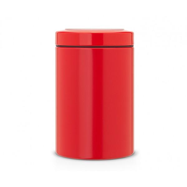 Контейнер для сыпучих продуктов с окном на крышке 1,4 л пламенно-красный