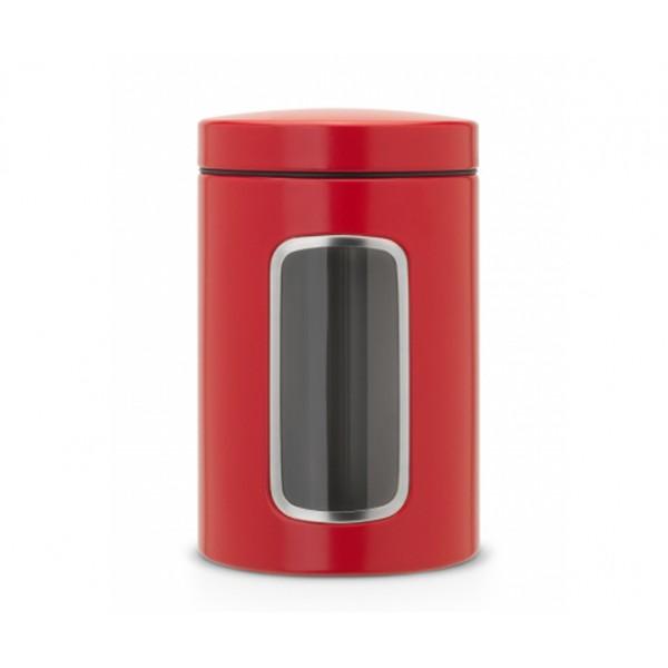 Контейнер для сыпучих продуктов с окном 1,4 л пламенно-красный
