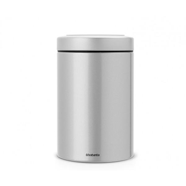 Контейнер для сыпучих продуктов с окном на крышке 1,4 л серый металлик