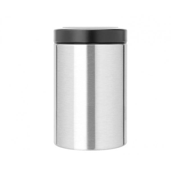 Контейнер для сыпучих продуктов с окном на крышке 1,4 л стальной матовый FPP