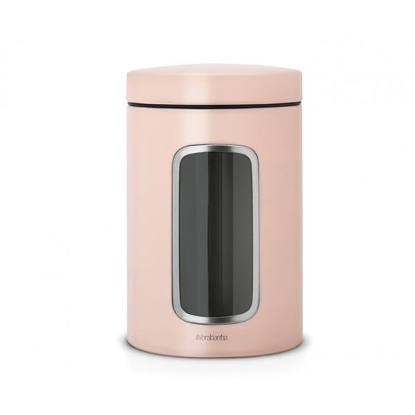 Контейнер для сыпучих продуктов с окном 1,4 л чайная роза