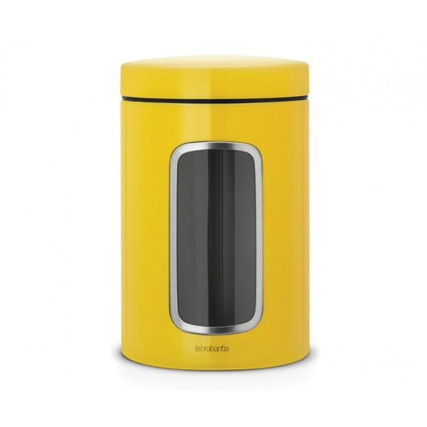 Контейнер для сыпучих продуктов с окном 1,4 л желтая маргаритка