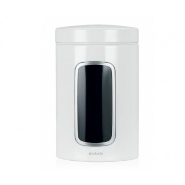 Контейнер для сыпучих продуктов с окном 1,4 л белый