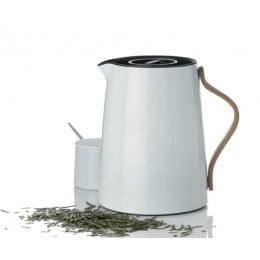 Вакуумный термокувшин Stelton Emma для чая синий (белый)