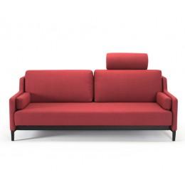 Диван Innovation Living Hermod с черными ножкам красный
