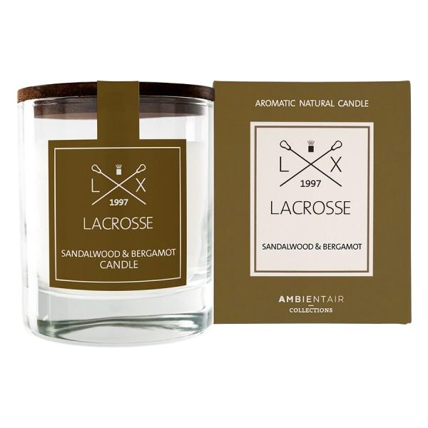 Ароматическая свеча в стекле Сандал и бергамот Lacrosse круглая