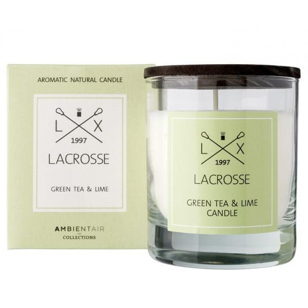 Свеча ароматическая в стекле Зеленый чай Лайм 8х8 см