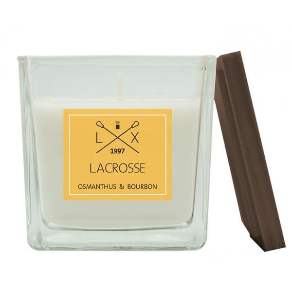 Свеча ароматическая в стекле Османтус и Бурбон 8х8 см