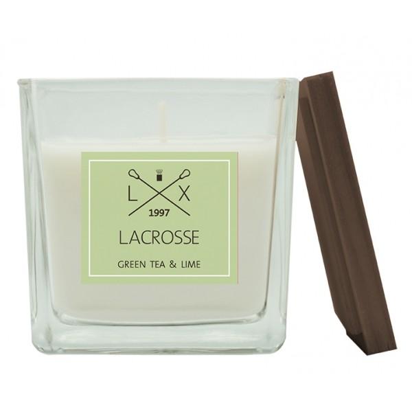 Свеча ароматическая в стекле Зеленый чай и Лайм 8х8 см
