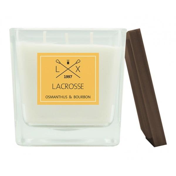 Свеча ароматическая в стекле Османтус и Бурбон 10х10 см