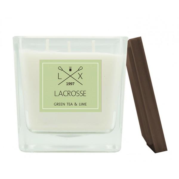 Свеча ароматическая в стекле Зеленый чай и Лайм 10х10 см