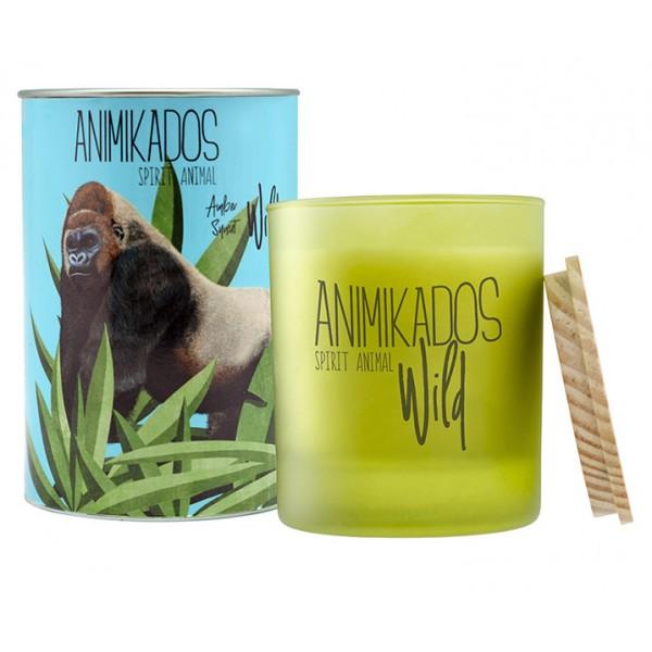 Свеча ароматическая Gorilla - амбровый Wild 40 ч