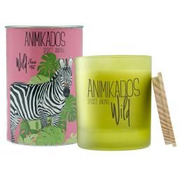 Свеча ароматическая Zebra - цветочный Wild 40 ч