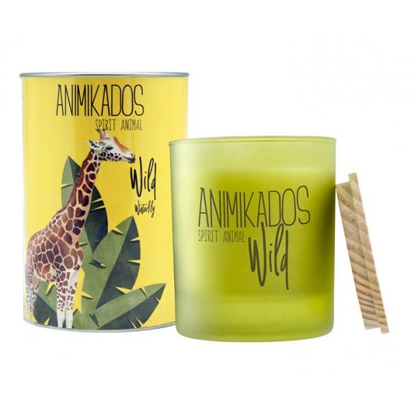 Свеча ароматическая Giraffe - водная лилия Wild 40 ч