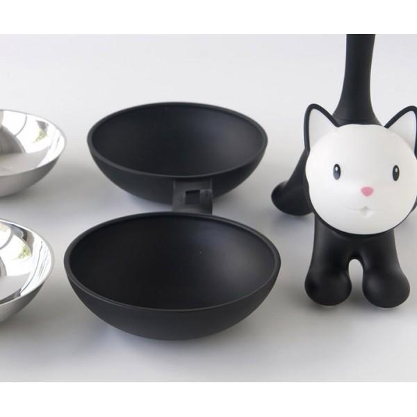 Миска для кошки Tigrito двойная чёрная