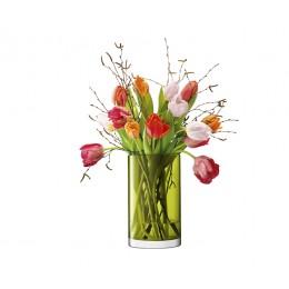 Ваза цилиндрическая LSA International Flower Colour 25 см зелёная