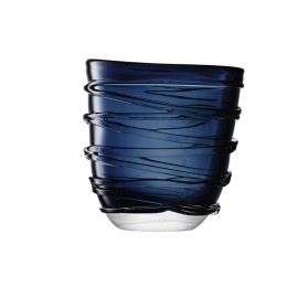 Ваза LSA International Yarn 26 см тёмно-синяя