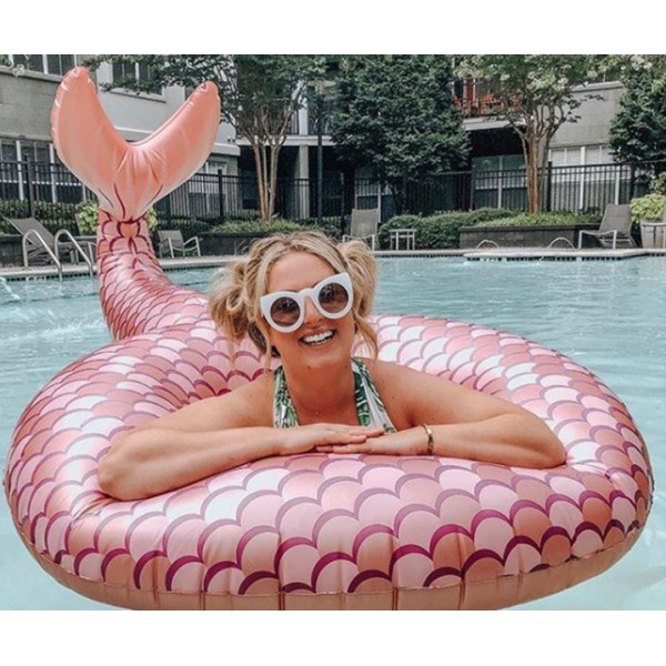 Круг надувной Mermaid Rose Gold