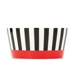 Миска фарфоровая Remember Black Stripes