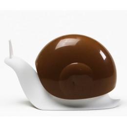 Диспенсер для мыла Qualy Escar белый с коричневым