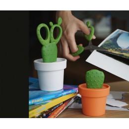 Ножницы Cactus с держателем оранжевые с зеленым