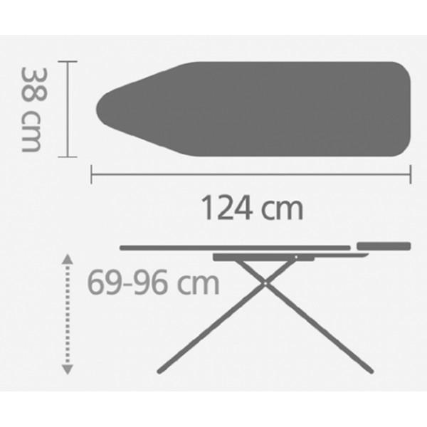 Гладильная доска 124х38 см (B) PerfectFlow
