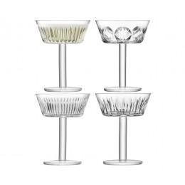 Набор из 4 бокалов-креманок для шампанского LSA Tatra 250 мл